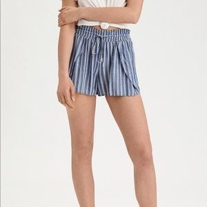 American Eagle Striped Dolphin Shorts